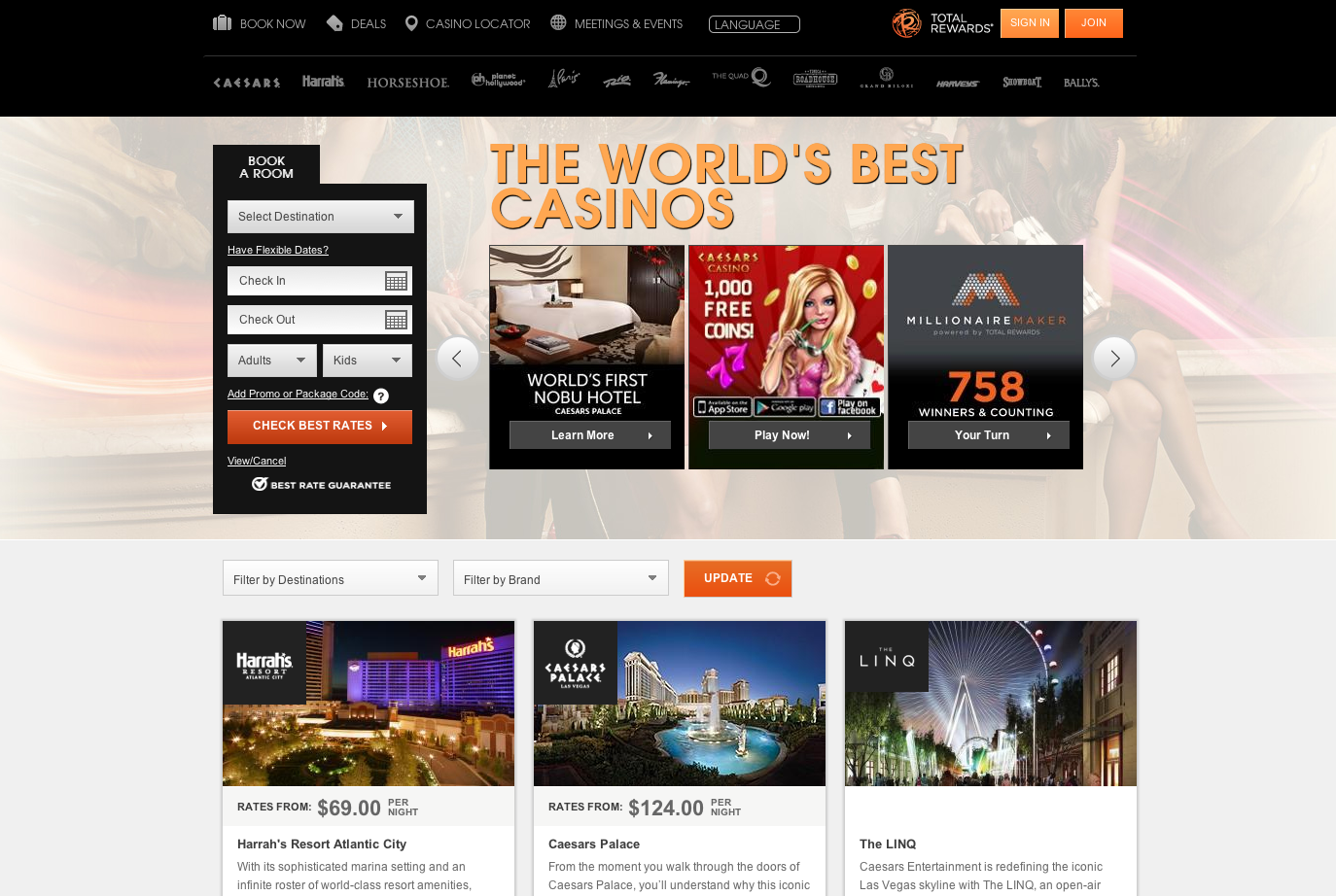 caesars-entertainment-webvisible-group-seo-clientonline-marketing-company